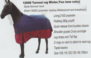 Horse Gear 1200d Turnout Rug Winter, Two Tone Color