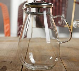 Heat Resistance Glass Water Pitcher Coffee Jug Container Dining Bottle pictures & photos