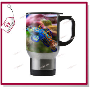 14oz Sublimation Stainless Steel Full Sliver Color Mug with Lid pictures & photos