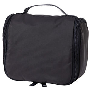 Durable Polyester Mens Black Hanging Travel Toiletry Bag pictures & photos