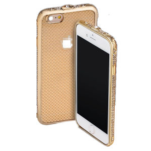 "Hot Sell Mobile Phone Electroplating TPU Case with Dimond for iPhone6s 4.7"" pictures & photos"