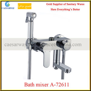 Single Lever Bathtub Faucets with Shattaf for Bathroom