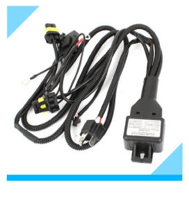 Top Selling Electrical Car Vehicle HID Light H4 Wiring Harness with Relay Socket 35W pictures & photos