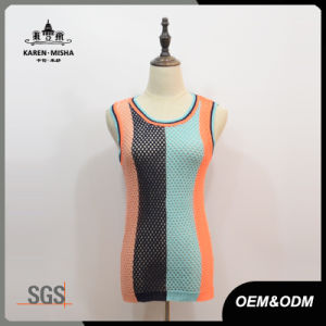 Women Preppy Knitted Tank Tops pictures & photos