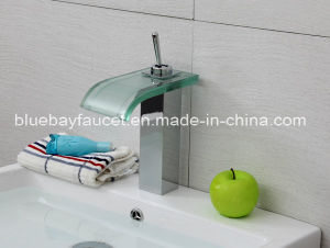 Square Single Lever LED Brass Basin Mixer Tap pictures & photos