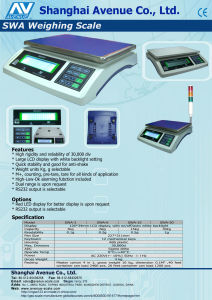 Electronic Weighing Scale Table Scale of 30kg (SWA) pictures & photos