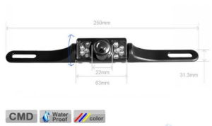 Waterproof IR Night Vision License Plate Rearview Car Camera pictures & photos