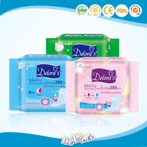 Wholesale Cotton Sanitary Pads Cheap Ladies Sanitary Napkins pictures & photos