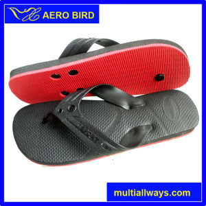 Male PE Slipper Sandal Shoes with Two Layer Color Sole