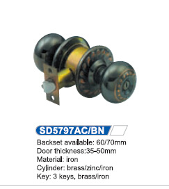 Iron Cylindrical Knob Lock 5797AC pictures & photos