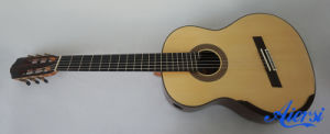 Aiersi 100% Handmade Classic Guitar with Fan Fret Design (SC098SPFFF) pictures & photos