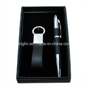High Quality Business Keychain and Pen Gift Set (QL-TZ-0020) pictures & photos