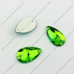 Wholesale Price Decorative Drop Peridot Sew on Rhinestone for Fashion Dress and Sweaters pictures & photos