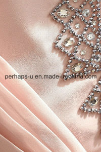 High Quality Fashion Princess Sleeveless Beads Pleated Girls Dress pictures & photos