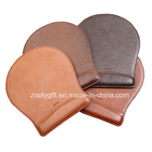 Quality Customized PU Leather Mouse Pad Embossed Logo Promotional Mouse Pad with Write Rest pictures & photos