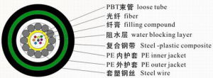 Optical Fiber Cablecentral Core Tube-Type Optical Fiber Cable GYXTY53 pictures & photos