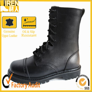 2017 High Quality Leather Men Combat Boots pictures & photos
