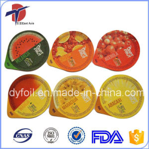 Printed & Embossed Die Cut Foil Sealing Lids For Fruit Juice pictures & photos