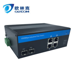 4 Poe RJ45 Ports and 2 Fiber SFP Ports Poe Switch Industrial POE Switch external power supply