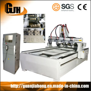 High Effciency and High Precision, 2D&3D Engraving, PMI Rail Guild and Screw, 1300X2500mm, Multi Spindles CNC Router pictures & photos