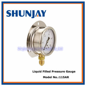 Liquid Filled Pressure Gauge with Ss Back Flange U-Clamp