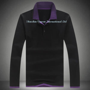 Autumn Pique Polo Shirt in Black pictures & photos