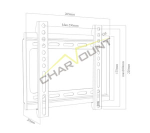 Made-in-China 200X200mm Fixed High Quality Plasma TV Stand (CT-PLB-E3001) pictures & photos