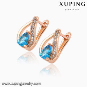 92031 Hot Sale Fashion Elegant Heart-Shaped Cubic Zircon Rose Gold-Plated Jewelry Earring Huggie pictures & photos