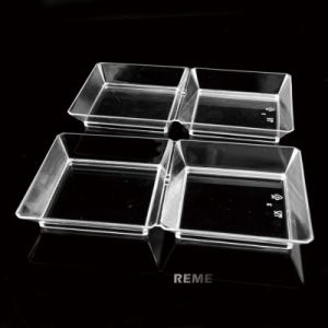 Plastic Disk Disposable Saucer Sqare 2 Compartment Tray pictures & photos