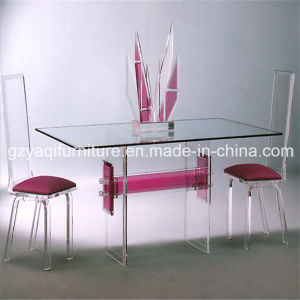 China Glass Dining Table and Chair Furniture Sets