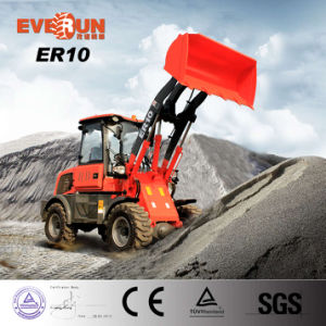China Factory Everun 1.0ton Mini Wheel Loader with Rops&Fops pictures & photos