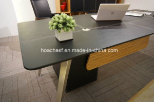 New Style Modern Leather MDF Office Table (V9) pictures & photos
