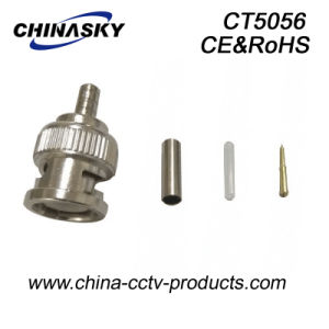 CCTV Crimp Male Connector BNC for Rg174 Cable (CT5056) pictures & photos