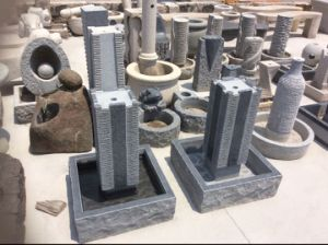 Natural Cheap Grey Granite G654 Landscape Fountain pictures & photos