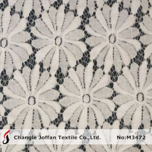 New Heavy Cotton Tricot Lace Fabric for Clothing (M3472) pictures & photos