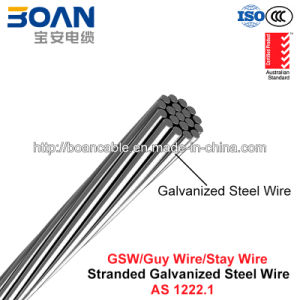 Gsw, Galvanized Steel Wire, Guy Wire, Stay Wire, Zinc Steel Wire (AS 1222.1) pictures & photos