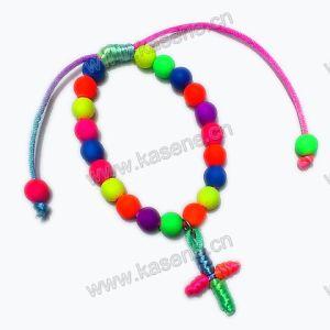 Popular Prayers, Adjustable Rosary Fashion Bracelet with Cross