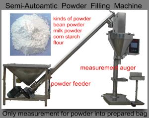 Corn Starch Filling Machine (auger to meaaure; with feeder;) pictures & photos