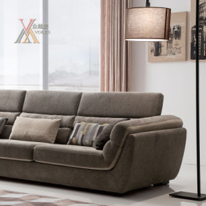 Modern Fabric Sofa Set with Adjustable Headrest (1603) pictures & photos