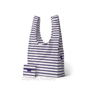 2015 New Hot Nylon Fabric Foldable T-Shirt Shape Shopping Bag