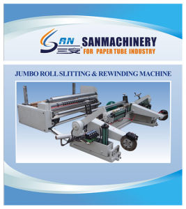 PLC Control Jumbo Paper Roll Slitting and Re-Winding Machine pictures & photos