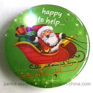Logo Printed Christmas Flashing Pin with Customized Design (3161)