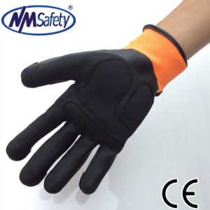 Nmsafety TPR on Back Impact Resistant Protection Mechanical Gloves pictures & photos