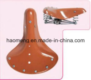 High Quality Spring Leather Bicycle Saddle Wholesale pictures & photos