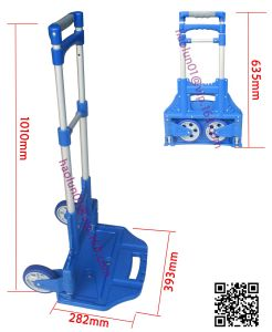 50kg Blue Multi Function Aluminium Foldable Luggage Cart pictures & photos