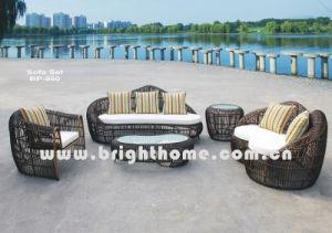 Round PE Rattan Wicker Outdoor Furniture Sofa Set Bp-860 pictures & photos