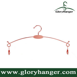 Rose Gold Metal Hanger for Underwear (GLMH302) pictures & photos
