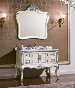 Antique Style Solid Wood Bathroom Cabinet pictures & photos