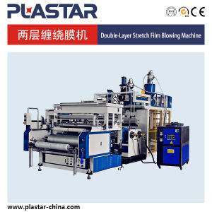 High Quality Double-Layer Co-Extrusion Stretch Film Machine pictures & photos