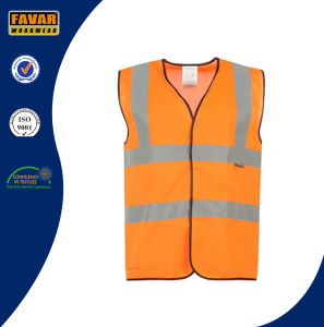 Hi Vis Reflective Safety Vest in Fluorescent Orange/Yellow